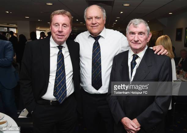 Ex Tottenham Hotspur managers Harry Redknapp Martin Jol and David Pleat pose prior to the Premier League match between Tottenham Hotspur and...