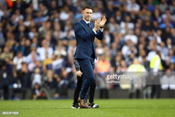 Ex Tottenham Hotspur player Robbie Keane during Premier League match between Tottenham Hotspur and Manchester United at White Hart Lane London 14 May...