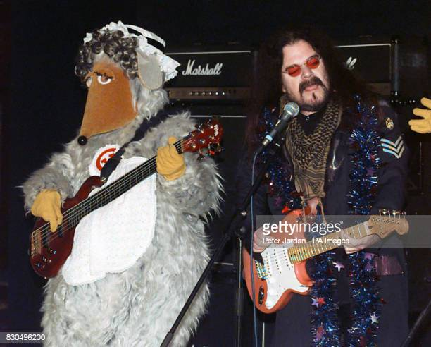 Ex Wizzard singer Roy Wood with Madame Cholet at a photo call to launch the Wombles new christmas single I Wish It Could Be A Wombling Merry...