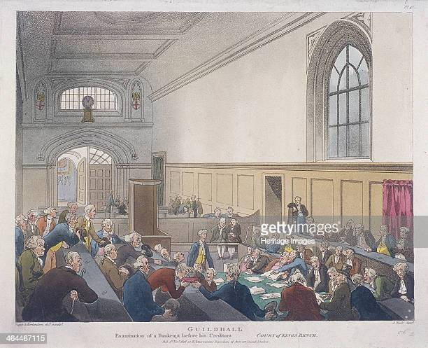 Examination of a bankrupt before his creditors in the Court of King's Bench Guildhall London 1808