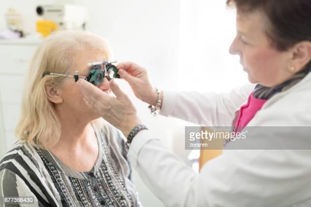 Examining patient vision