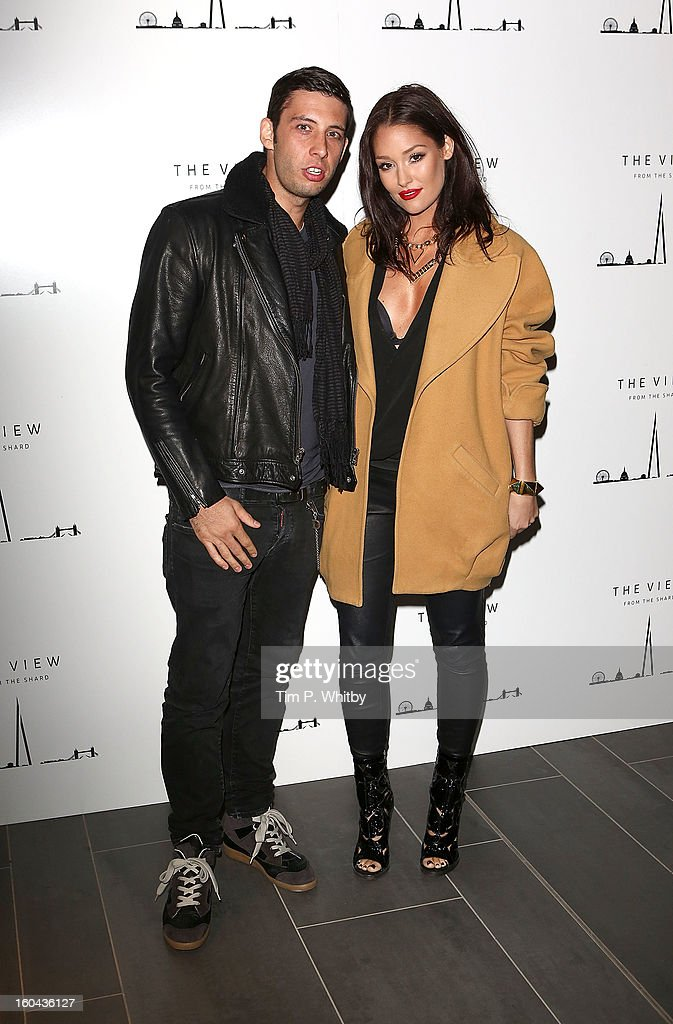 Example and Erin McNaught attend 'The View from The Shard' launch party at The Shard on January 31, 2013 in London, England. The Shard is Western Europes tallest building and opens to the public on 1st February.