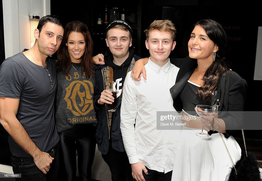Example, Erin McNaught, Guy Lawrence, Howard Lawrence and Jessie Ware attends as Nick Grimshaw hosts his first annual award season dinner at Hix, in association with Philips Sound, on February 19, 2013 in London, England.