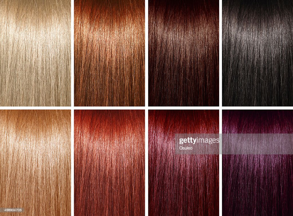 Palette de couleur a cheveux