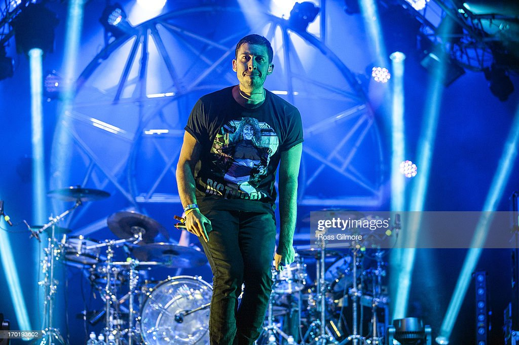 Example performs on stage on Day 2 of Rockness Festival 2013 at Clune Farm, Loch Ness on June 8, 2013 in Inverness, Scotland.