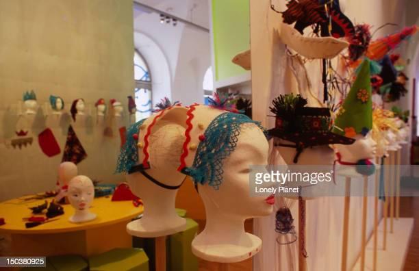 Examples of children's work at Zoom Kinder (children) Museum, Museums Quartier, Innere Stadt.
