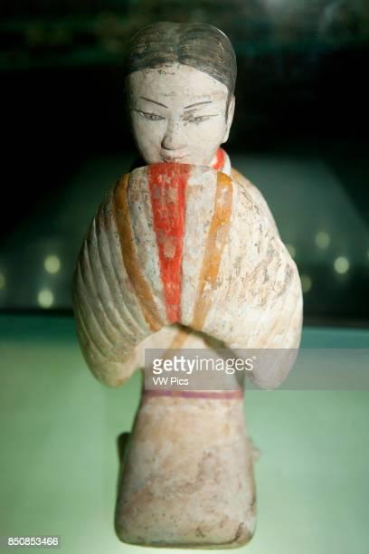 Excavated painted terracotta exhibit Han Yang Ling Museum Zhangjiawan near Xi'an Shaanxi Province China