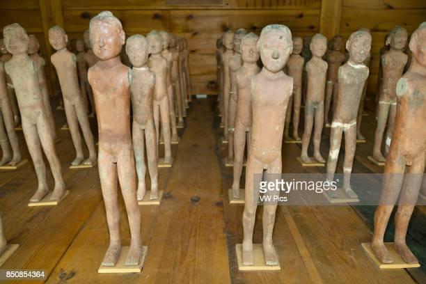 Excavated terracotta exhibits Han Yang Ling Museum Zhangjiawan near Xi'an Shaanxi Province China