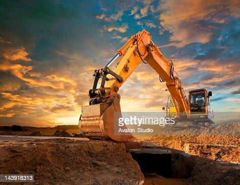 Excavator 工事現場で