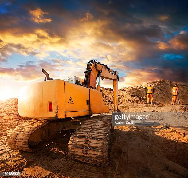 Excavator at Construction Site