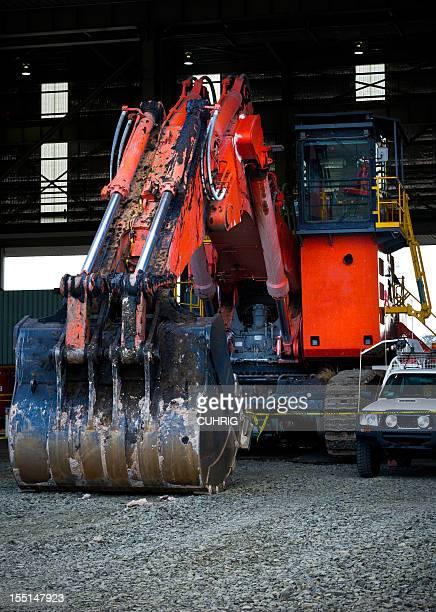 Excavator in HME Workshop
