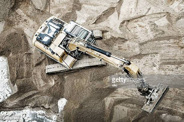 Excavator, view from above