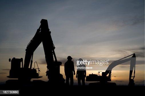 Excavators at Dawn