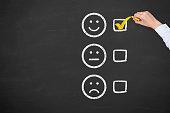 Excellent Customer Service Evaluation Form on Blackboard