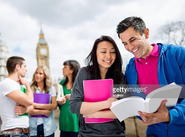 Exchange students in London