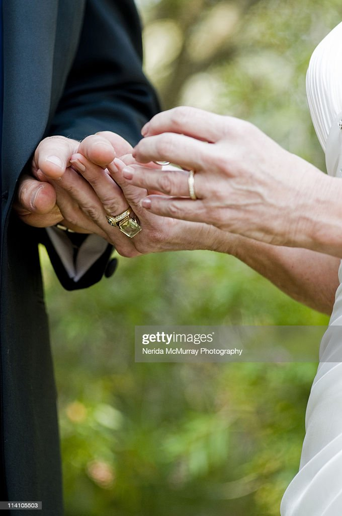 exchanging wedding rings stock photo getty images