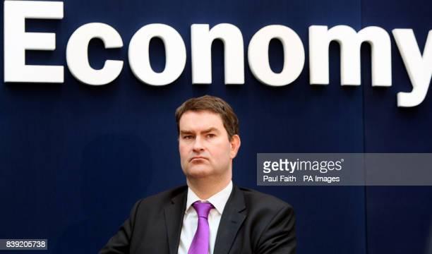 Exchequer Secretary to the Treasury David Gauke speaking in Lisburn Co Antrim