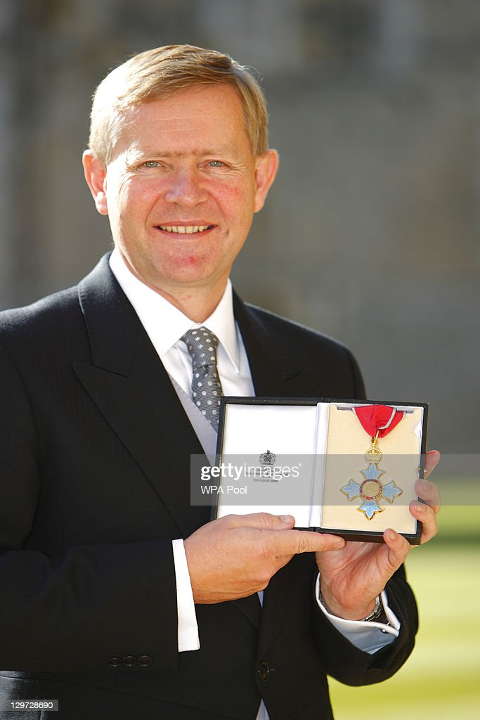 Ex-chief executive at the National Policing Improvement Agency, Peter Neyroud poses after receiving his Officer of the British Empire (OBE) from the Princess Anne, Princess Royal at Windsor Castle on October 20, 2011 in Windsor, England.
