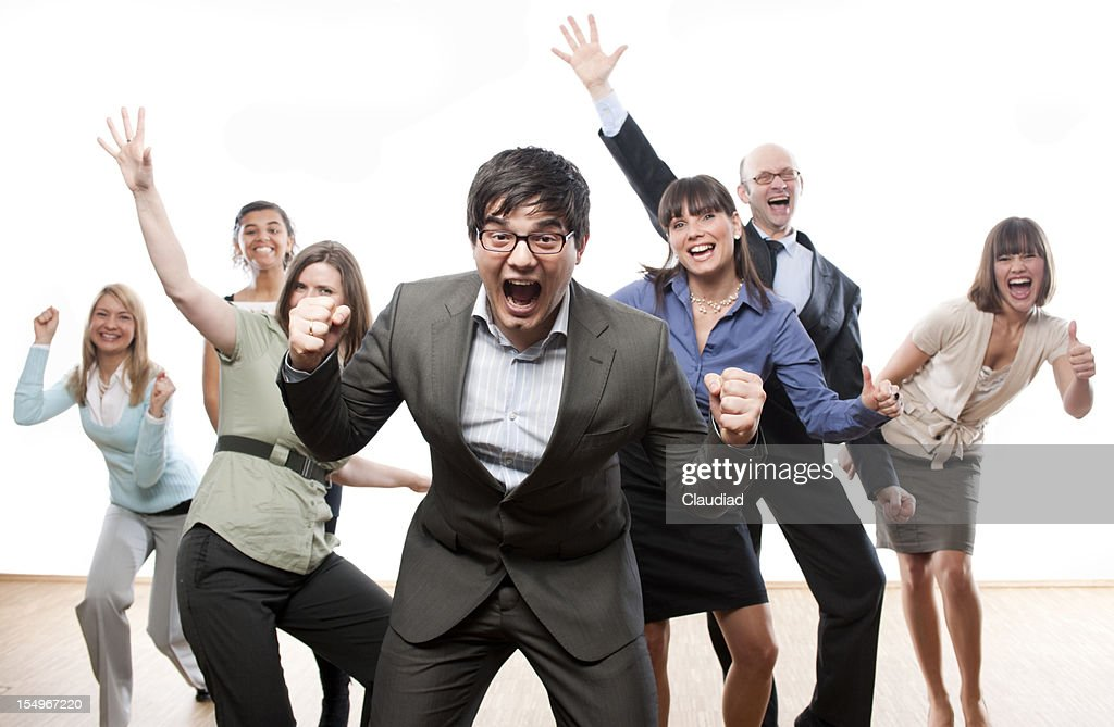 Excited business team : Stock Photo
