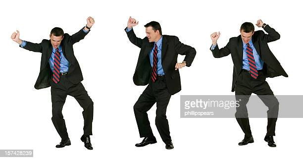 Excited  Businessman Dancing