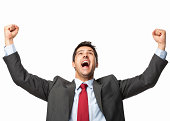 Excited Businessman - Isolated