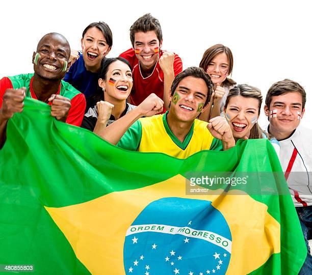 Begeistert Fußball-fans