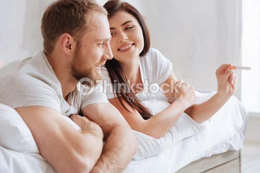 Excited future parents cannot keep their real emotions