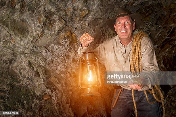 Excited Gold Miner hitting the Jaclpot