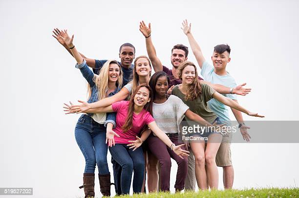 Excited Group of College Student