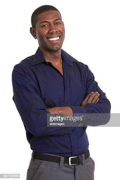 Excited Man Smiling With Arms Crossed