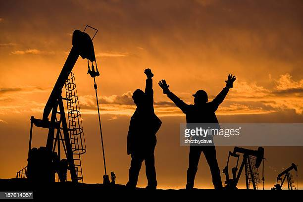 Excited Oil Workers