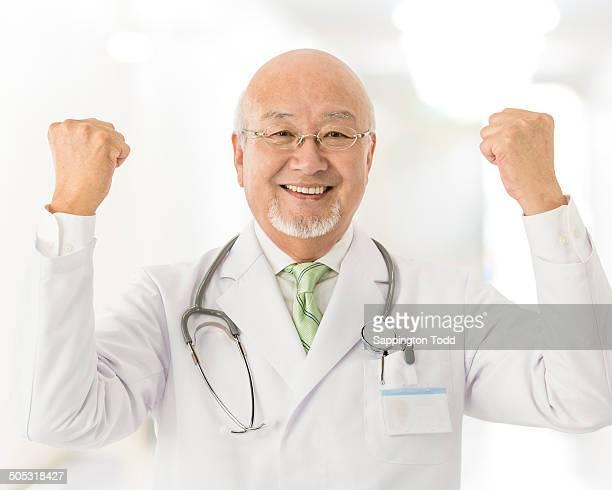 Excited Senior Doctor