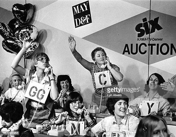 APR 7 1981 Excited volunteers at the Channel 6 auction yell out the bids on items to phone callers during a 'quickie cart' auction Monday evening The...