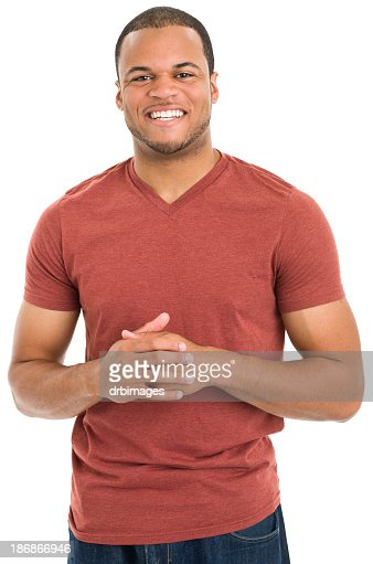 Excited Young Man Smiling