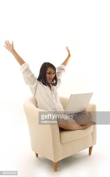 Aufregung von Cyber-Bereich