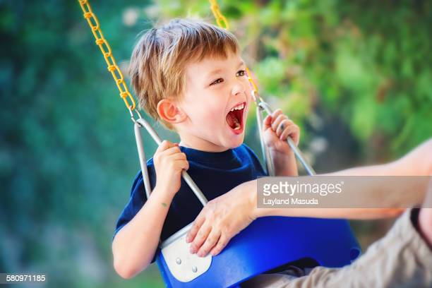 Excitement On A Swing