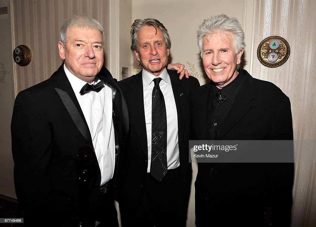 *Exclusive* Allan Clarke, Michael Douglas and Graham Nash attends the 25th Annual Rock and Roll Hall of Fame Induction Ceremony at The Waldorf=Astoria on March 15, 2010 in New York, New York.