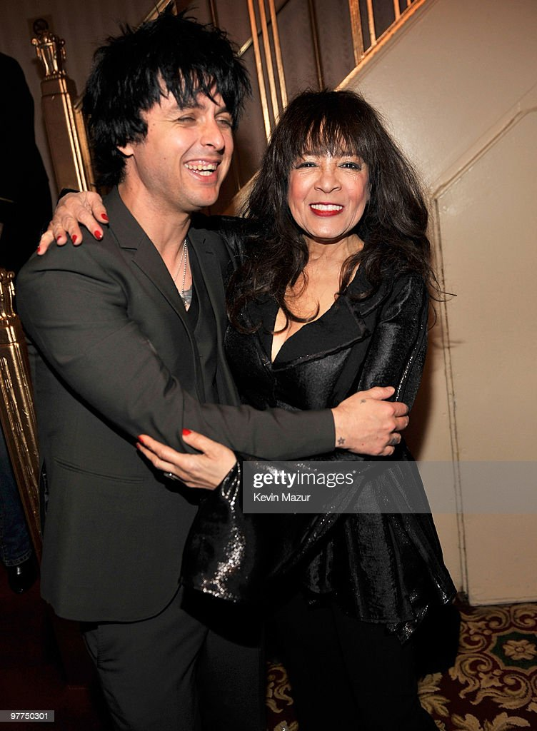 *Exclusive* Billie Joe Armstrong of Green Day and Ronnie Spector attends the 25th Annual Rock and Roll Hall of Fame Induction Ceremony at The Waldorf=Astoria on March 15, 2010 in New York, New York.