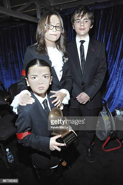 **Exclusive** Blanket Jackson Paris Jackson and Prince Jackson attend the 52nd Annual GRAMMY Awards held at Staples Center on January 31 2010 in Los...