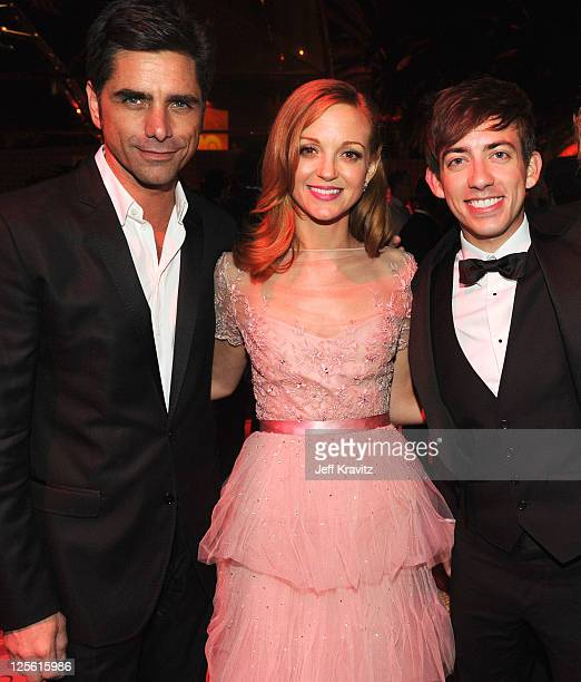 **Exclusive Coverage** Actors John Stamos Jayma Mays and Kevin McHale attend HBO's Official Emmy After Party at The Plaza at the Pacific Design...