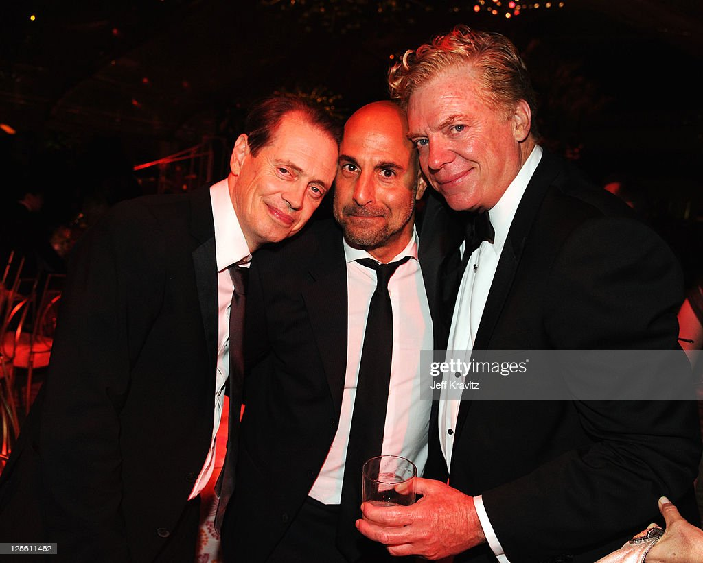 **Exclusive Coverage** Actors Steve Buscemi Stanley Tucci and Chris McDonald attend HBO's Official Emmy After Party at The Plaza at the Pacific...