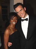 *Exclusive Coverage* Montego Glover and Cheyenne Jackson pose at the Stage Directors And Choreographers Society 50 Year Celebration at Tribeca...
