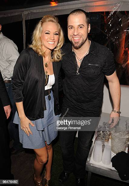 *Exclusive Coverage* Musicians Carrie Underwood and Chris Daughtry attend the Super Bowl Party hosted by Creative Artists Agency at the W Hotel South...