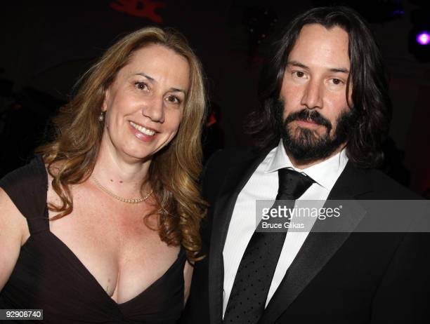 *Exclusive Coverage* SDC Executive Director Laura Penn and Keanu Reeves pose at the Stage Directors And Choreographers Society 50 Year Celebration at...