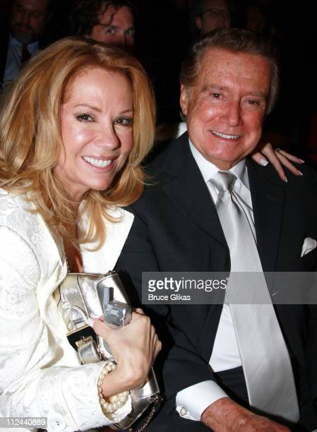 *Exclusive Coverage* Talk Show Hosts Kathie Lee Gifford and Regis Philbin have a Reunion at The Arrivals for The Opening Night of The New Musical 'A...