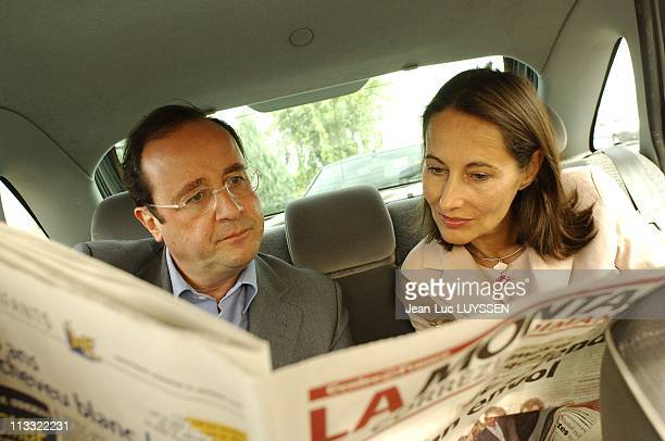 Exclusive Francois Hollande And Segolene Royal At The Celebration Of Rose Of Uzerche On October 16Th 2005 In Uzerche France Here Francois Hollande...