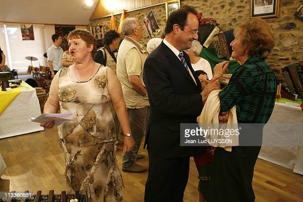 Exclusive Francois Hollande Before The Second Round Of Legislative Elections In His Constituency In Tulle France On June 16 2007 Francois Hollande at...