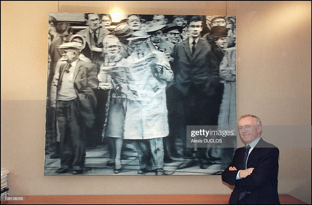 Exclusive Francois Pinault In His Office In Paris On January 1St, 2001 In Paris, France. In Front Of A painting