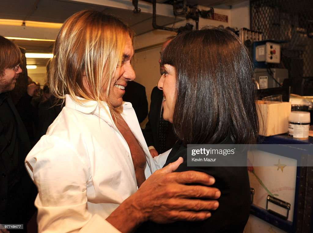 *Exclusive* Iggy Pop and Lisa Robinson attends the 25th Annual Rock and Roll Hall of Fame Induction Ceremony at The Waldorf=Astoria on March 15, 2010 in New York, New York.