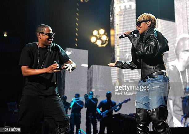 *Exclusive* JayZ and Mary J Blige perform at Madison Square Garden on September 11 2009 in New York City